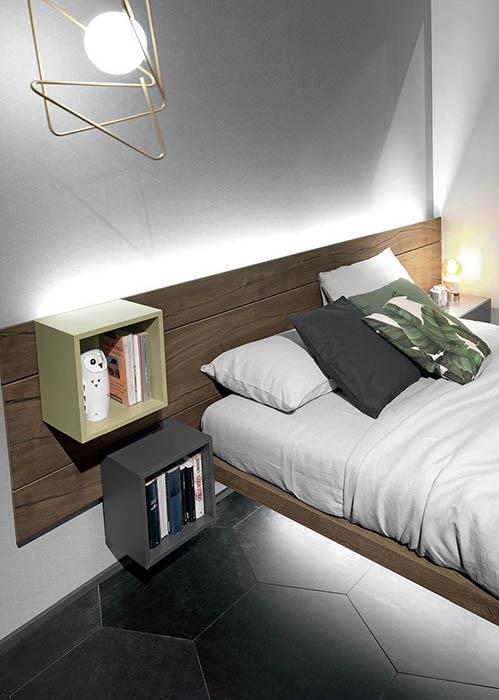 tecnoarredi arredamento interni zona notte letto fimar sorvolo 4