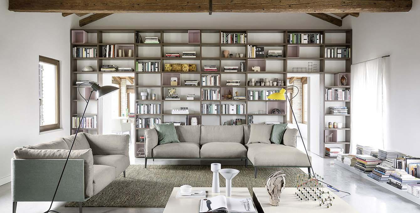 tecnoarredi arredamento interni zona giorno libreria wall30 novamobili 1