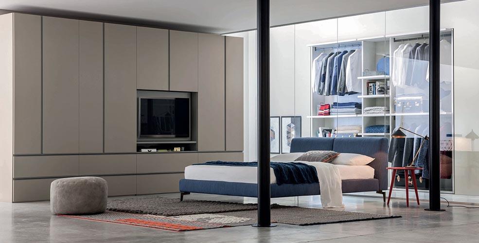 tecnoarredi arredamento interni zona notte armadio porta tv novamobili 1