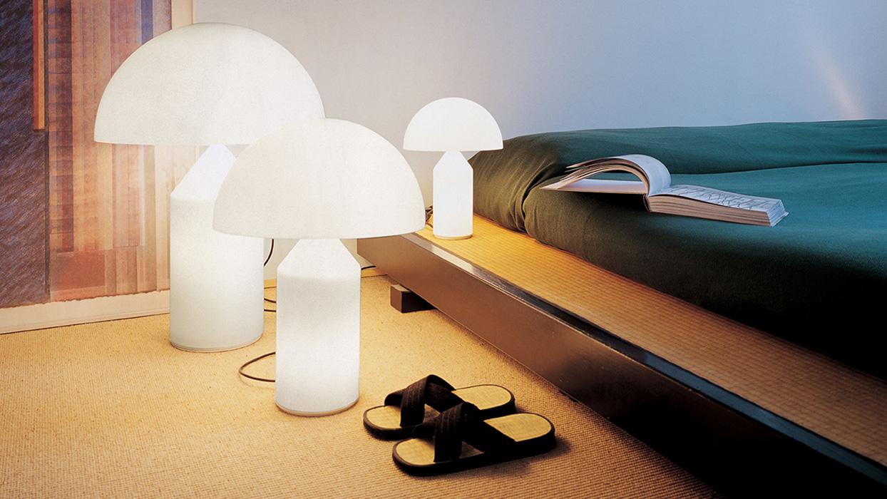 tecnoarredi arredamento interni illuminazione lampada da tavolo atollo oluce 2