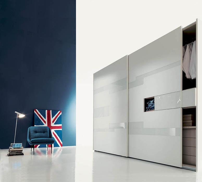 tecnoarredi arredamento interni zona notte armadio fimar emotion con porta tv 1