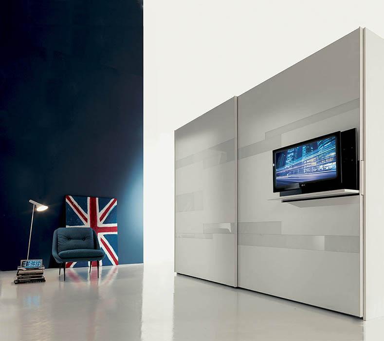 tecnoarredi arredamento interni zona notte armadio fimar emotion con porta tv 2