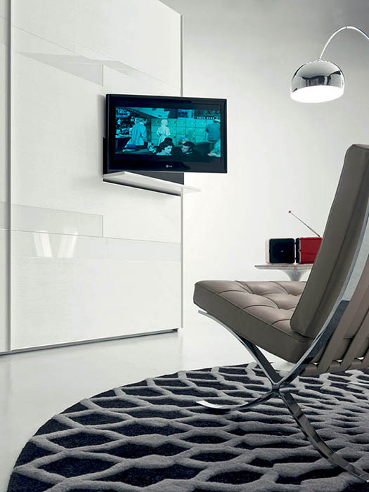 tecnoarredi arredamento interni zona notte armadio fimar emotion con porta tv 4